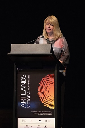 Turning the world upside down, Creative People and Places Keynote, Artlands Victoria 2018. Image by Diana Domonkos.