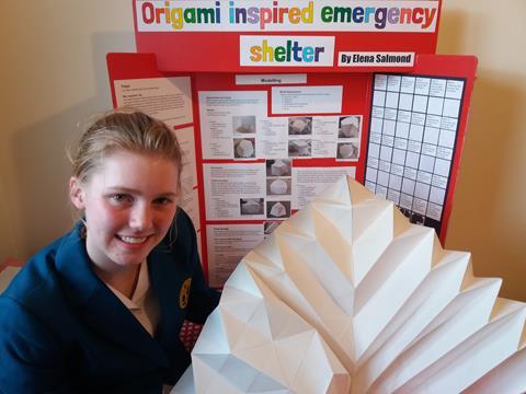 Senior prize winner Elena Salmond of Wellington Girls College