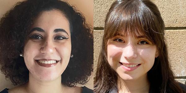Menna Elsayed (left) and Karina Silva