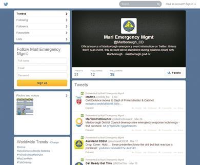 Screenshot of the @Marlborough_CD account