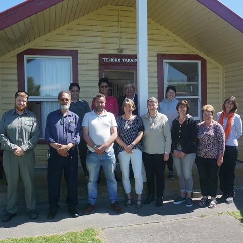 Wellington Conservation Board meeting at Tini Waitara marae.  Photo: Barry Wards