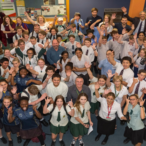 Griffith University Logan Campus - Image of students cheering