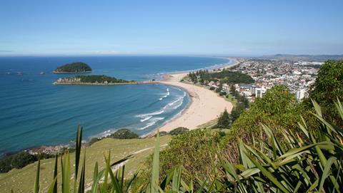 Aerial view of Tauranga