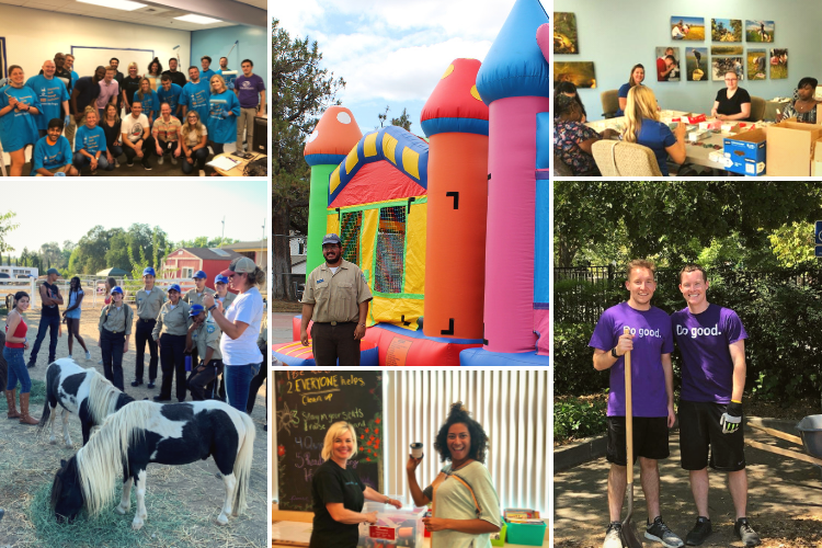 August Volunteer Collage