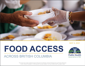 """Title page of a report titled """"Food Access Across British Columbia"""""""