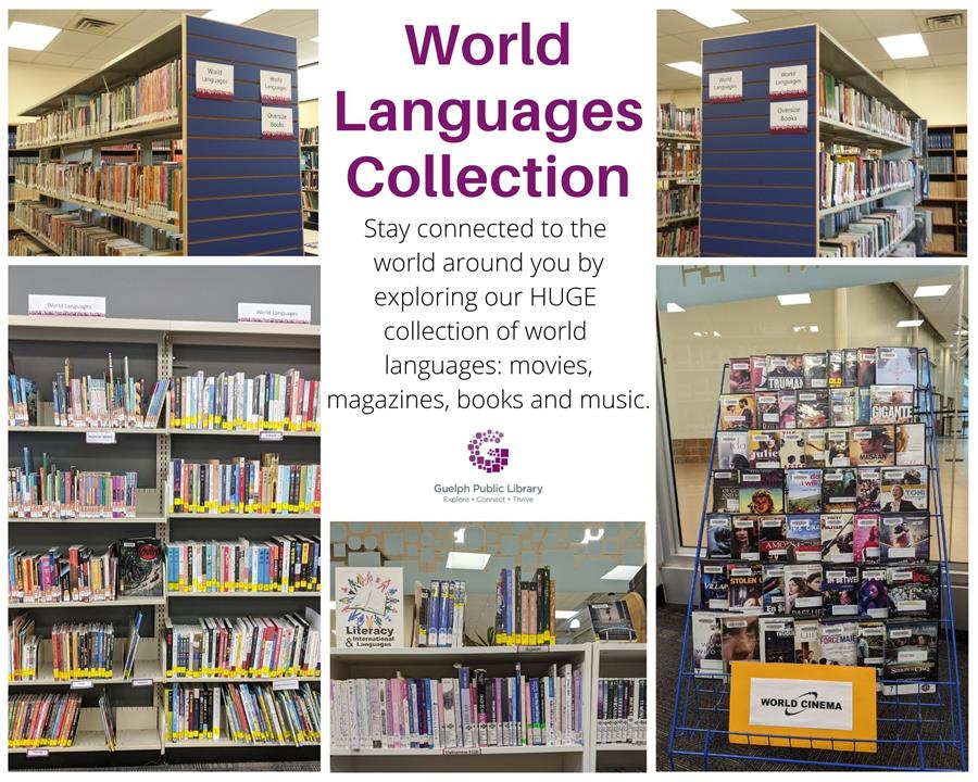 Bridge the travel gap: stay connected with the world when you explore our HUGE collection of multilingual movies, music, books and magazines!