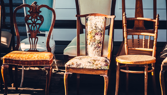 Row of old chairs