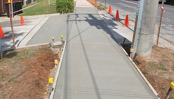 New footpath in Melbourne St, Kilmore.
