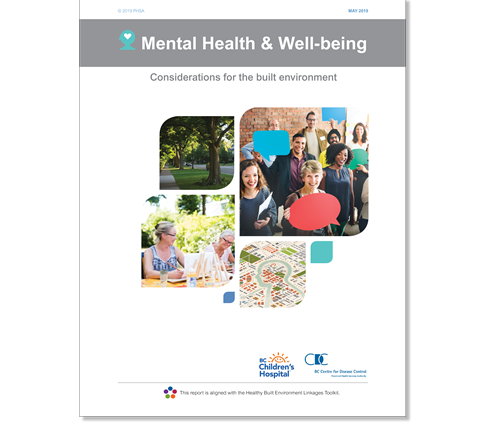 Cover of the BCCDC's report, Mental health and well-being: Considerations for the built environment.