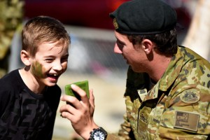 Members of the ADF at a local community event in Bowen, Queensland. 480,000 Queenslanders have a connection to Defence.  Defence