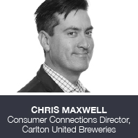 Chris Maxwell, Consumer Connections Director, Carlton United Breweries