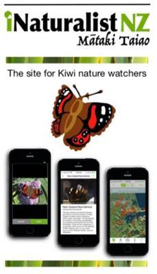 iNaturalistNZ logo and screens
