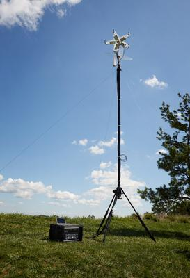 The RF unit with antenna. Credit: D13