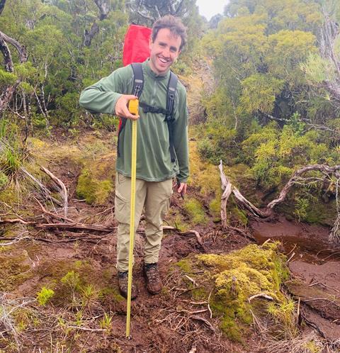 Galen in the field photo by D. Vercoe