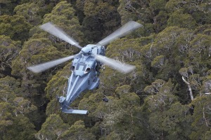 An RNZAF NH90 taking part in Ex Katipo on the South Island.