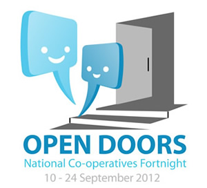 """Australia's first National Co-operatives Fortnight is on from 10–24 September 2012. The theme is """"Open Doors""""."""