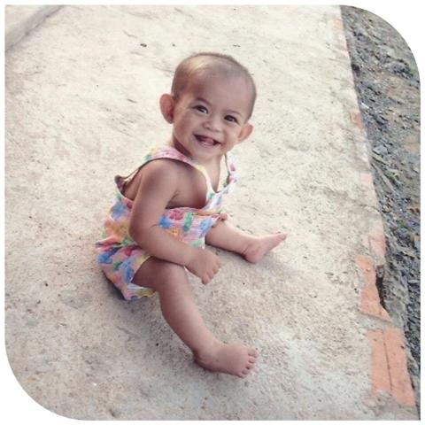 Srey Touc as a baby