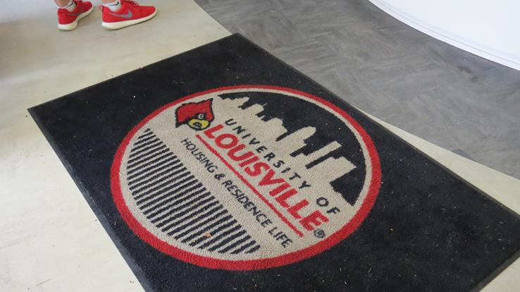 image of a rug inside one of the residence halls