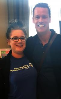 Special Olympics BC Youth Activation Council member and Mark Tewksbury