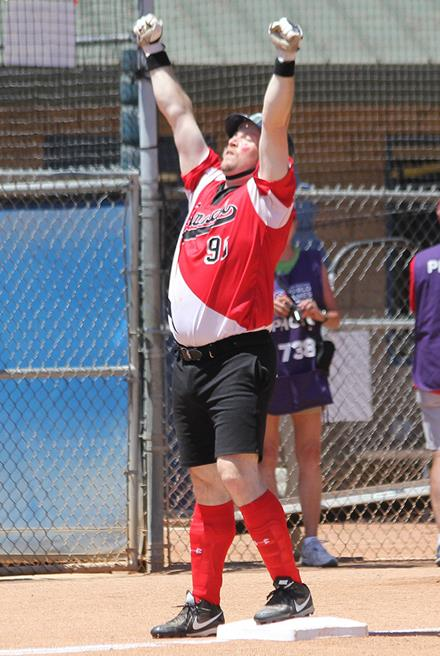 Special Olympics Team Canada softball player Ryan Courtemanche of Kelowna