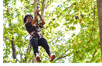 j.k. livin students Go Ape thanks to the Washington Redskins Charitable Foundation