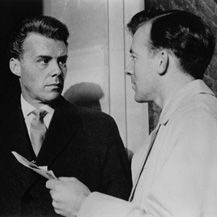 Film still from Victim