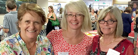 Cath Stone, Sarah O'Shea and Sue Trinidad