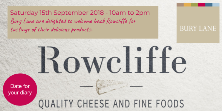 Bury Lane Farm Shop Rowcliffe Cheese Tasting 15th September 2018