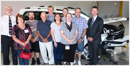 NRMA Competition Winners visit ANCAP Crash Test
