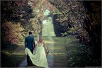 Bride and Groom walk away