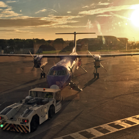 Image of Flybe aircraft, Cooke & Arkwright