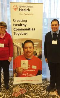 Athletes Robyn Rauh and Vincent Li at Inclusive Health meeting
