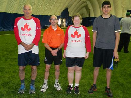 Special Olympics Team Canada soccer players