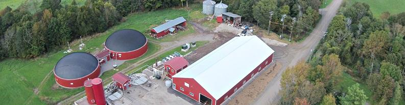 Aerial view of Agri-Cycle operation