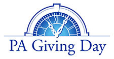 PA Giving Day logo of a clock/timepiece