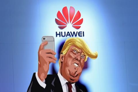 Trump tweets, Huawei responds