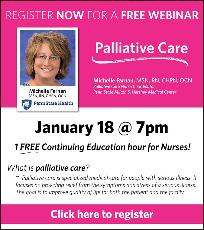 Register now for the PBCC's Palliative Care Webinar!