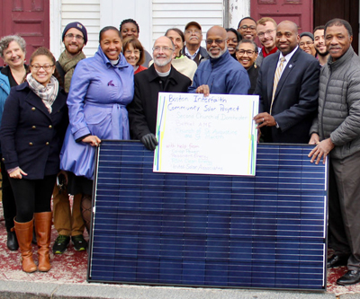 Three Boston Congregations Team Up for Community Solar Project