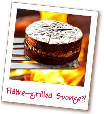 火焰烤巧克力海绵蛋糕?!