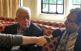 Jimmy Carter and Hina Jilani