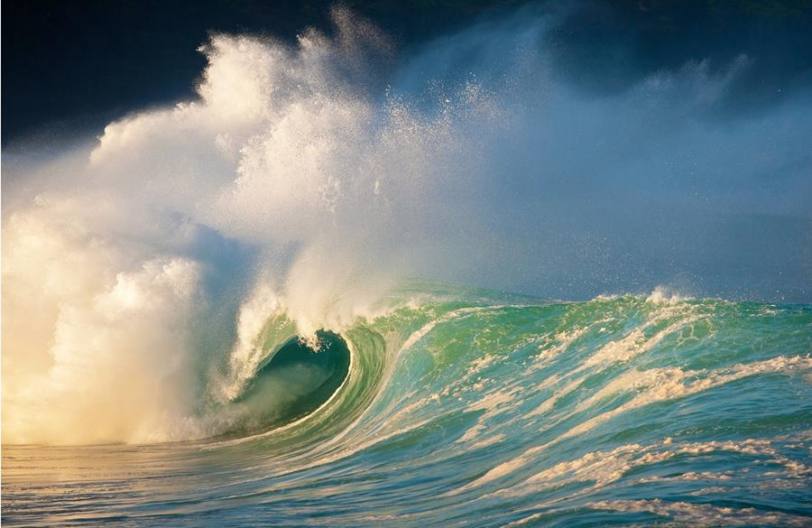 Wave breaking scenic