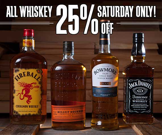 All Whiskey 25% Off