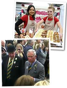 Nee和Amy在Great Yorkshire展览的皇家诺福克秀和查尔斯王子