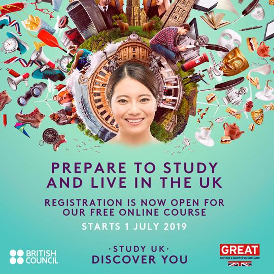 Study UK: Prepare to Study and Live in the UK' MOOC banner