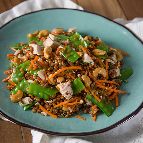 Wheatberry Cashew and Chicken Salad