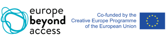 Europe beyond access logo and co-funded by the creative Europe programme of the European union logo