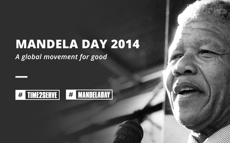 Mandela Day 2014 | A global movement for good | #time2serve | #mandeladay