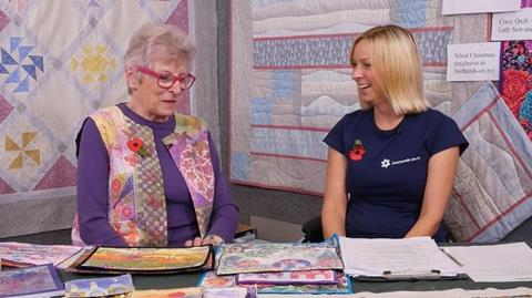 Meet Mary Gamester at the West Country Quilt show 2016