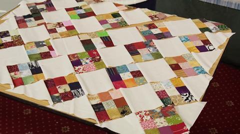 Scrap 9 Patch quilt with Valerie Nesbitt
