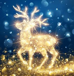 Image of sparkling reindeer
